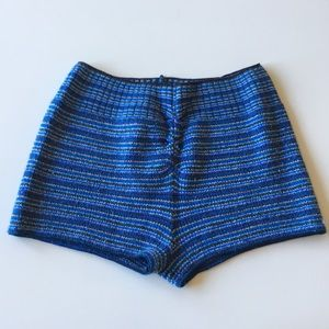 Harmonie Capezio Blue Striped Dance Shorts P/S